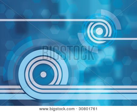 Blue Tech Abstract Background Two