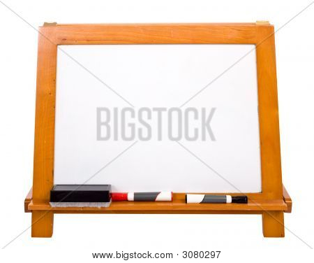 Blank Markerboard On White