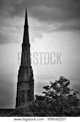 Eighteen Century St. Elphins Church Is The Parish Church Of The Town Of Warrington, Cheshire, Englan