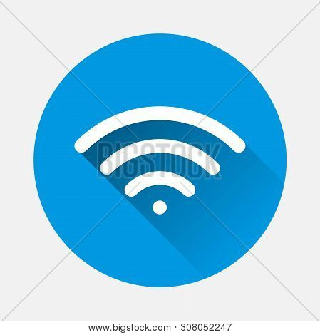 Vector Icon Wi-fi. Internet Connect With A Flat Shadow. Layers Grouped For Easy Editing Illustration