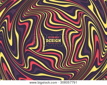 Optical Illusion, Abstract Background. Hypnosis Twisted Spiral Design Concept For Hypnosis, Infinity