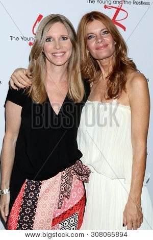 LOS ANGELES - JUN 23:  Lauralee Bell, Michelle Stafford at the Young and The Restless Fan Club Luncheon at the Marriott Burbank Convention Center on June 23, 2019 in Burbank, CA