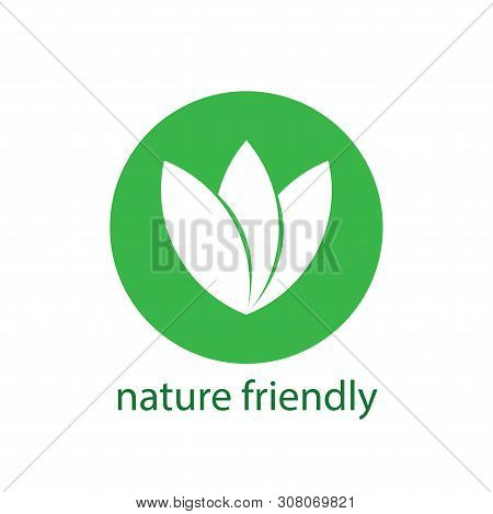 Natural Friendly Vector Design.logo Natural Product. Stickers, Labels, Tags With Text. Natural, Eco