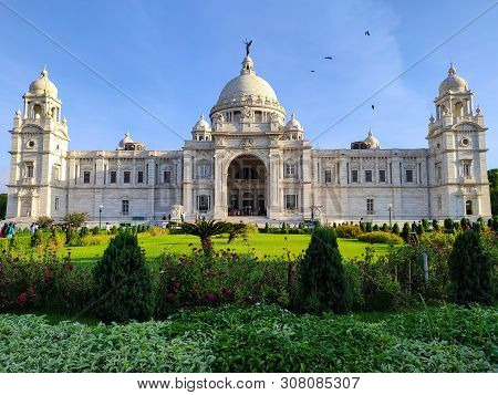 Kolkata, West Bengal, India - June 23, 2019, The Victoria Memorial,which Was Built Between 1906 And