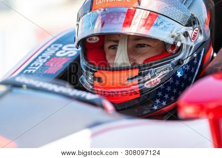 June 22, 2019 - Elkhart Lake, Wisconsin, USA: MARCO Andretti (98) of the United States prepares to qualify for the REV Group Grand Prix at Road America in Elkhart Lake, Wisconsin.