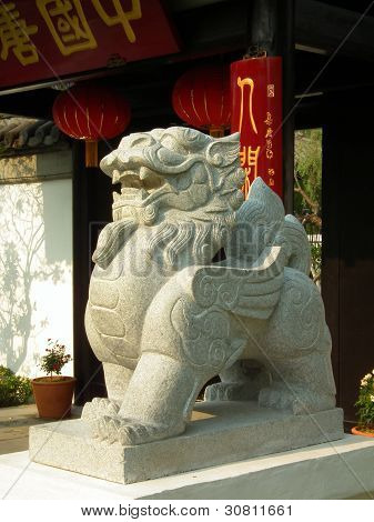 Chinese Guardian Lion Statue