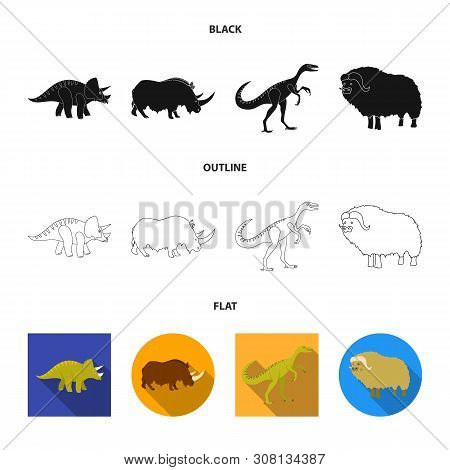 Vector Illustration Of Animal And Character Icon. Collection Of Animal And Ancient Vector Icon For S