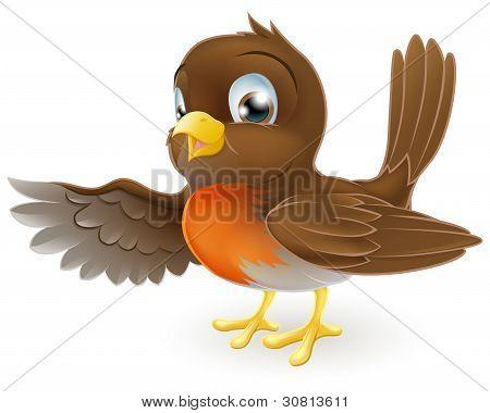 Robin Pointing Illustration