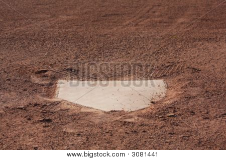 Dirt Kicked On Home Plate