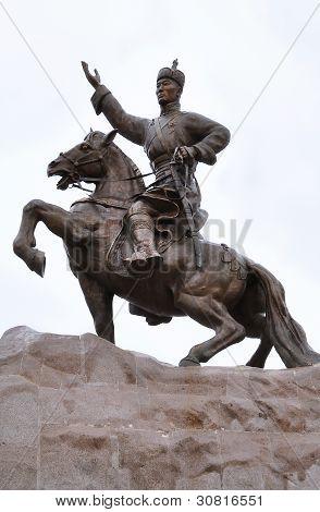 Genghis Khan, Sukhbaatar Square, Ulaanbaatar