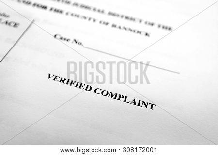 Court documents complaint filings legal proceedings