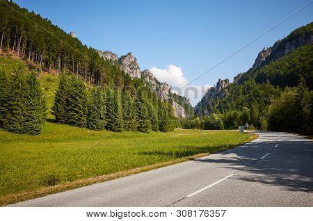 Scenic Road In Mala Fatra Mountains, Slovakia.