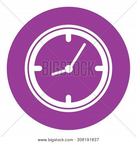 Clock Icon, Clock Icon Isolated On White Background. Clock Icon In Trendy Design Style. Clock Vector