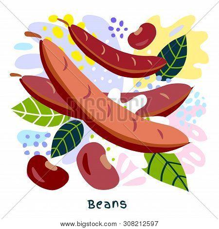 Fresh Pod, Beans Haricot Vegetable Juice Splash Organic Food Vegetables Condiment Spice Splatter On