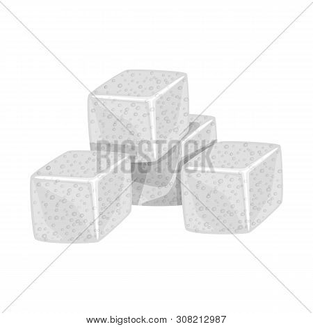 Vector Illustration Of Croutons And Bread Logo. Collection Of Croutons And Bowl Stock Symbol For Web