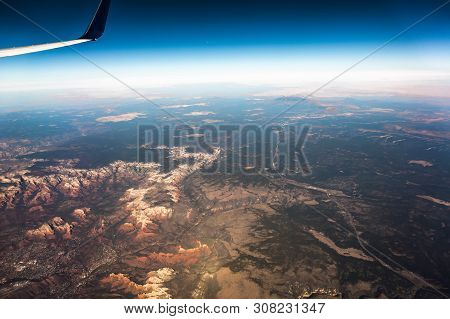 Aerial Views Over Grand Canyon In Arizona