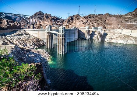 Hoover Dam Lake Mead In Arizona Nevada