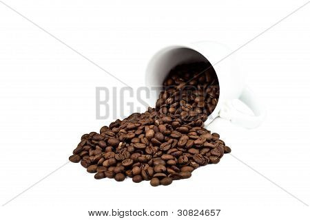 A Cup With Coffee Beans
