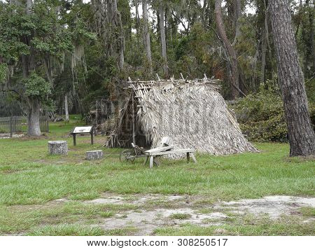 Settler's Shelter At Fort Frederica Georgia