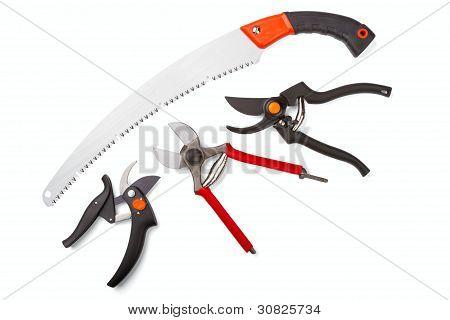 Garden Secateurs And Hacksaw