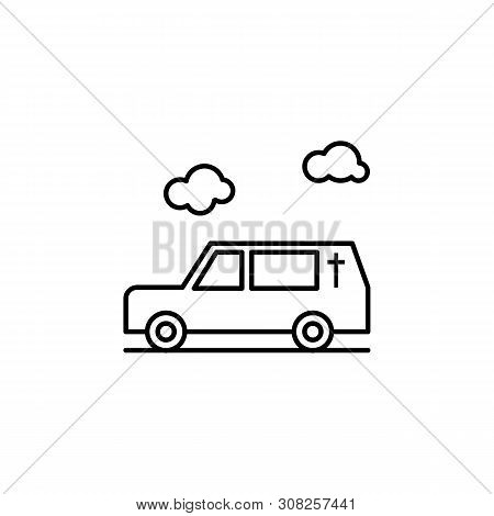 Hearse, Death, Car Outline Icon. Detailed Set Of Death Illustrations Icons. Can Be Used For Web, Log