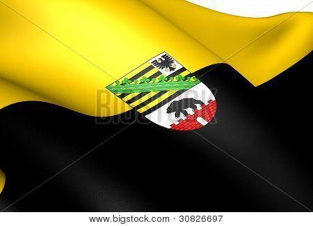 Flag Of Saxony-anhalt, Germany.