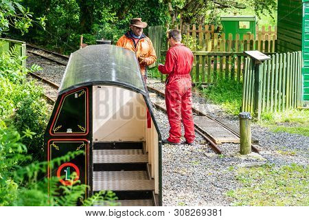 Laxey, Isle Of Man, June 15, 2019.the Great Laxey Mine Railway Was Originally Constructed To Serve T