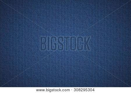 Denim Texture. Jeans Cloth Background. Burlap Apparel Material.