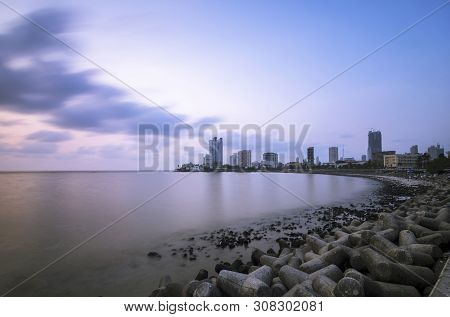Worli Sea Face At Mumbai, Maharashtra State Of India.