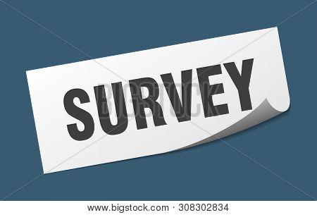 Survey Square Sticker. Survey Sign. Survey Banner