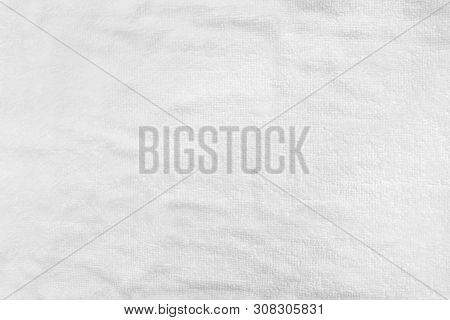 White Abstract Cotton Towel Mock Up Template Fabric On With Background. Wallpaper Of Artistic Wale L