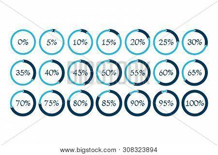 Percentage Vector Symbols. 5 10 15 20 25 30 35 40 45 50 55 60 65 70 75 80 85 90 95 100 0 Percent Pie