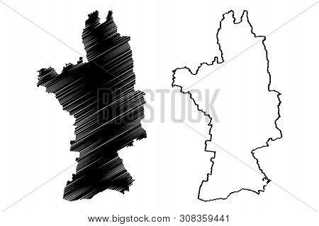 Olt County (administrative Divisions Of Romania, Sud-vest Oltenia Development Region) Map Vector Ill