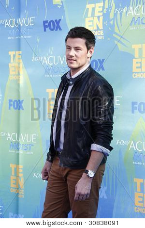 LOS ANGELES - AUG 7: Cory Monteith arrives at the 2011 Teen Choice Awards held at Gibson Amphitheatre on August 7, 2011 in Los Angeles, California