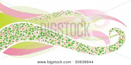 Background With Waves For Design