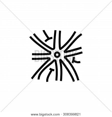Nervous System Line Icon. Neuron, Cell, Nerve. Neurology Concept. Vector Illustration Can Be Used Fo