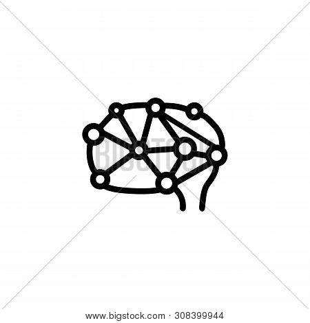 Neuron Network Line Icon. Head, Brain, Circuit. Neurology Concept. Vector Illustration Can Be Used F