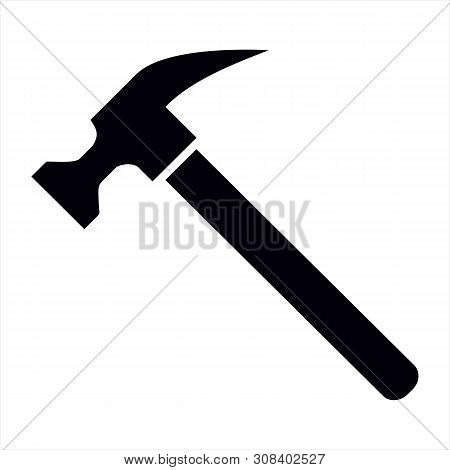 Hammer Icon Isolated On White Background. Hammer Icon In Trendy Design Style. Hammer Vector Icon Mod