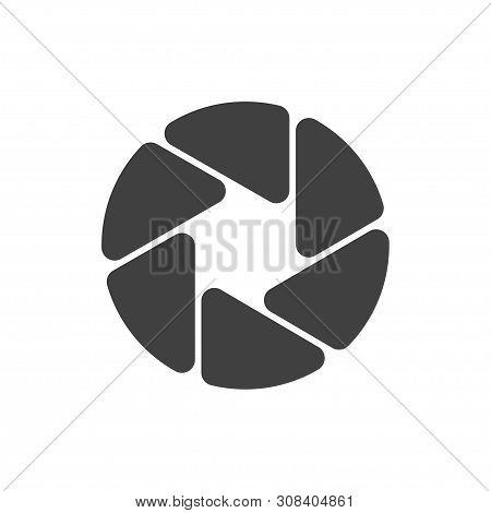 Shutter Camera Icon. Diaphragm Symbol. Template Design Element For Photographer Logotype. Vector Ill