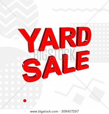 Advertising Banner Or Poster With Yard Sale Text