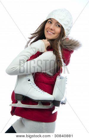Pretty Woman Ice Skating Winter Sport Activity