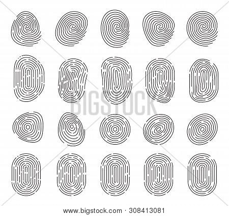 Unique Fingerprint Or Thumbprint Sign  Icon Isolated