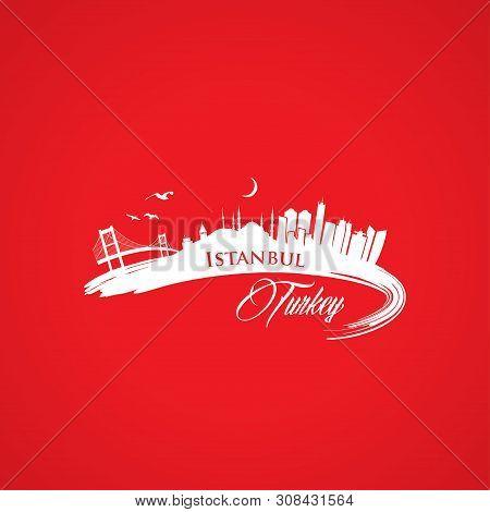 Istanbul Skyline - Vector Illustration - Vector