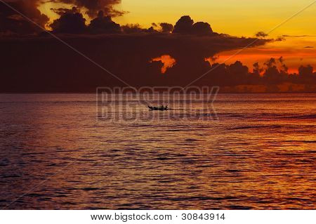 Indian Ocean At Sunset