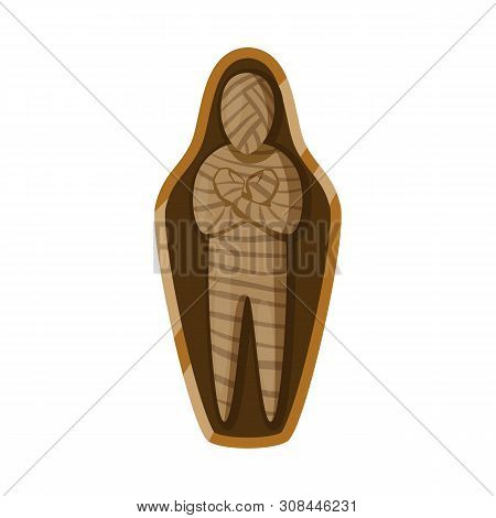Vector Illustration Of Mummy And Ancient Logo. Collection Of Mummy And Afterlife Stock Symbol For We
