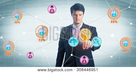 Intent Young Cybersecurity Manager Using Artificial Intelligence To Identify And Assess The Risk Of