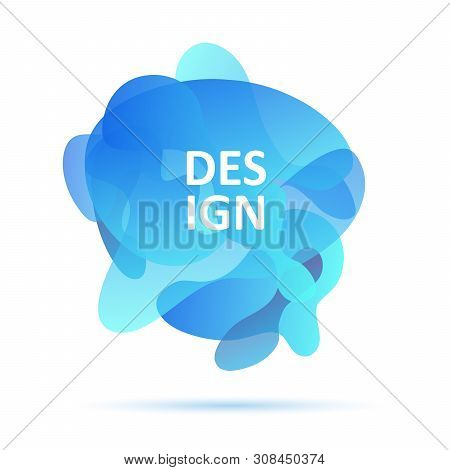 Dynamical Forms, Blue Colors, Abstract Modern Graphic Element, Blue Colors. Gradient Abstract Banner