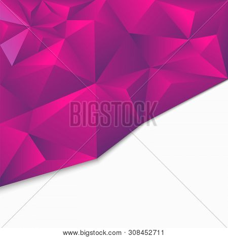 Origami Geometric Polygonal Abstract Background, 3d Style.triangular Texture With Space For Text. Te