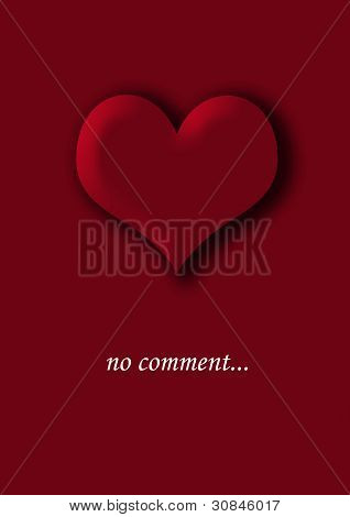 Red heart on a red background. No comment.