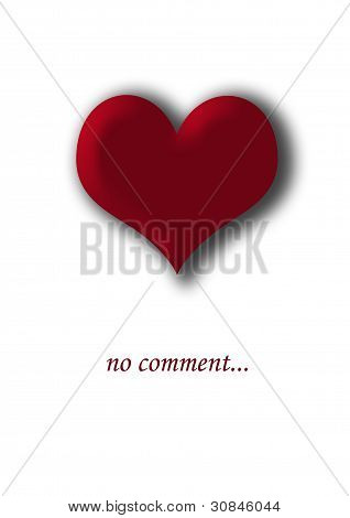 Red heart on a white background.  No comment.